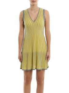 M Missoni - Striped lurex-knit dress