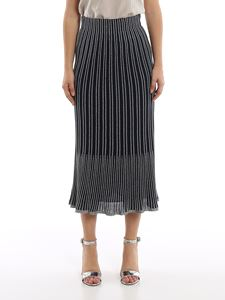 M Missoni - Striped lurex-knit black skirt