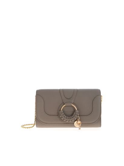 See by Chloé - Hanna wallet in Motty Grey color