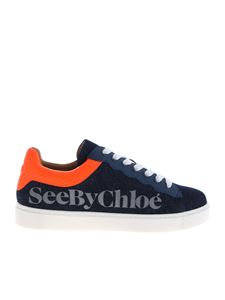 See by Chloé - Benares sneakers in blue denim