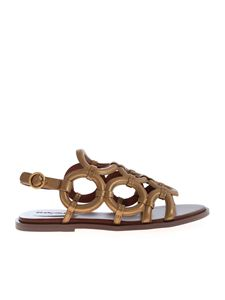 See by Chloé - Ghirona sandals in bronze color
