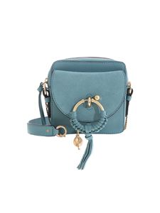 See by Chloé - Joan camera bag in Mineral Blue color