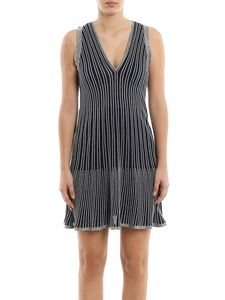 M Missoni - Striped lurex-knit black dress