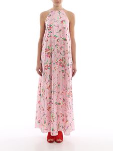 Giada Benincasa - Floral silk dress with vents