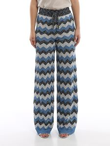 M Missoni - Chevron knitted palazzo trousers