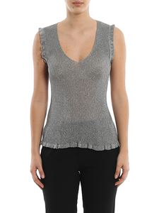 M Missoni - Ruffle viscose and lurex blend tank top