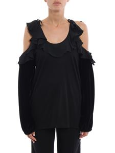 N° 21 - Multi fabric off the shoulder top