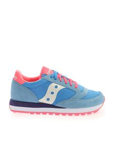 Saucony - Jazz Original Sneakers in blue and fuchsia