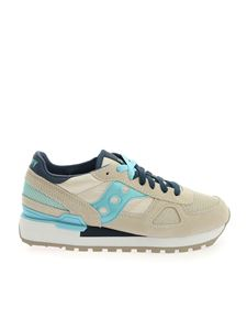 Saucony - Shadow Original Sneakers in beige light blue and blue