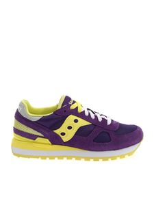 Saucony - Shadow Original Sneakers in purple and yellow