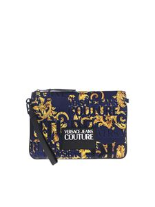 Versace Jeans Couture - Baroque Jewels logo clutch bag in blue