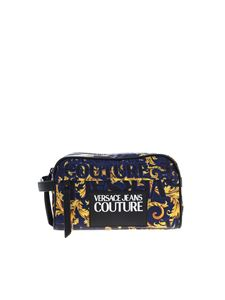 Versace Jeans Couture - Beauty case blu con stampa Baroque Jewels