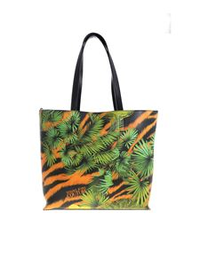 Versace Jeans Couture - Leaves print bag in green and orange