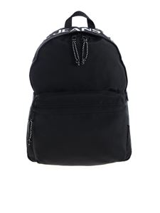 Versace Jeans Couture - Backpack in black with white logo print