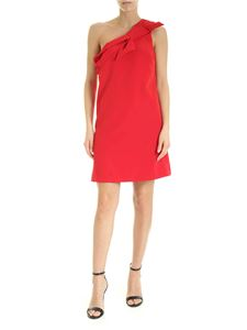 be Blumarine - One-shoulder dress with bow in red