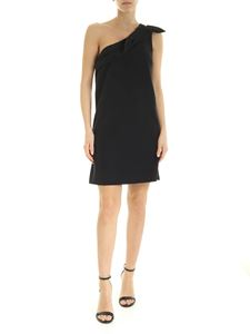 be Blumarine - One-shoulder dress in black with bow
