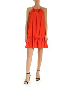 Dondup - A-Line flounced dress in orange