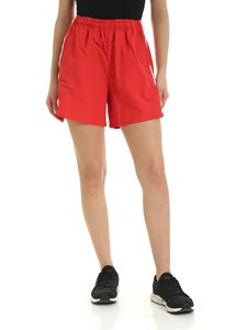 Adidas Originals - Contrasting logo bands shorts in red