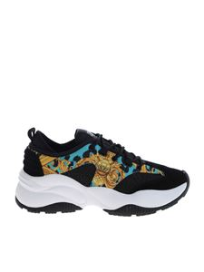 Versace Jeans Couture - Leo Chain print sneakers in black