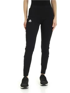 Kappa - Leggings in black with logoed bands