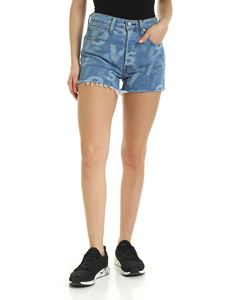 Levi's - Lettering logo motif shorts in light blue