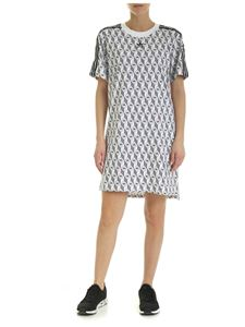 Adidas Originals - Trefoil print dress in black and white