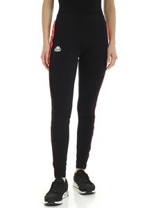 Kappa - Contrasting logo bands leggings in black