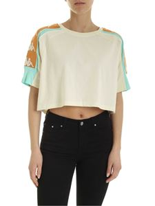 Kappa - Branded bands crop T-shirt in cream color