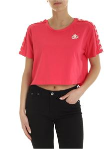Kappa - Crop branded T-shirt in fuchsia