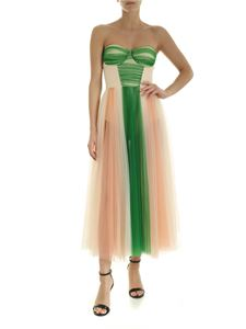 Elisabetta Franchi - Tulle Dress in green and pink