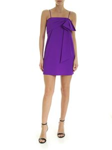 Dondup - Maxi bow mini dress in purple
