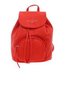 Gaelle Paris - Synthetic leather backpack in coral red