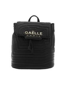 Gaelle Paris - Synthetic leather backpack in black