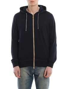 Eleventy - Jersey hoodie with contrasting details