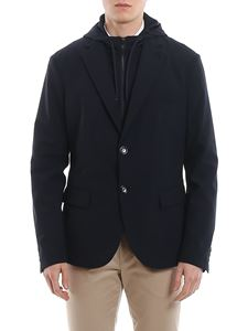 Emporio Armani - Wool blazer with removable double front