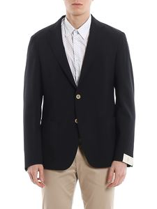 Eleventy - Soft wool blazer with patch pockets