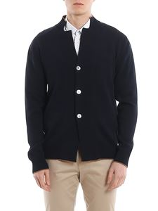 Eleventy - Cotton cardigan with contrasting edges
