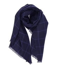 Corneliani - Checked silk cashmere blend scarf