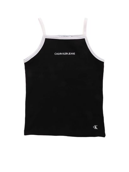 Calvin Klein Jeans - Top in black with white edges
