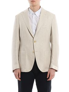 Eleventy - Soft linen blazer with patch pockets