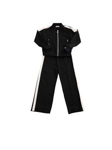 Moncler Jr - Completo nero con patch logo