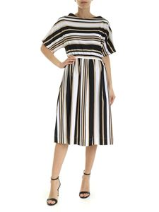 Woolrich - Striped Dress in black white and beige