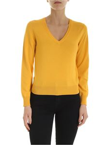 Kangra Cashmere - Pullover in yellow with sequins