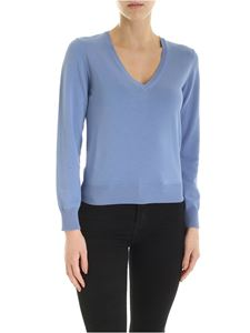 Kangra Cashmere - Pullover in light blue with sequins