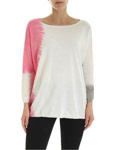 Kangra Cashmere - Oversize Sweater in white pink and gray
