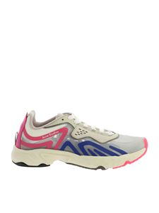 Acne Studios - Ripstop sneakers in white with blue and pink details