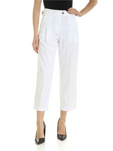 Jacob Cohën - Lidia chino pants in white