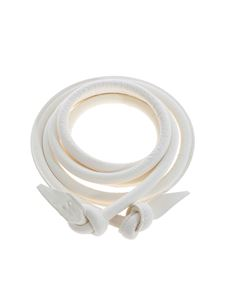 Ermanno Scervino - Leather belt in ivory color