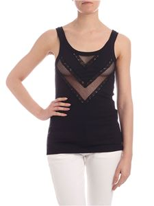 Ermanno by Ermanno Scervino - Openwork inserts top in black
