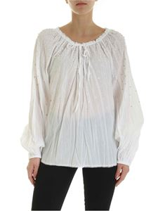 Ermanno by Ermanno Scervino - Rhinestones and trimmings blouse in white